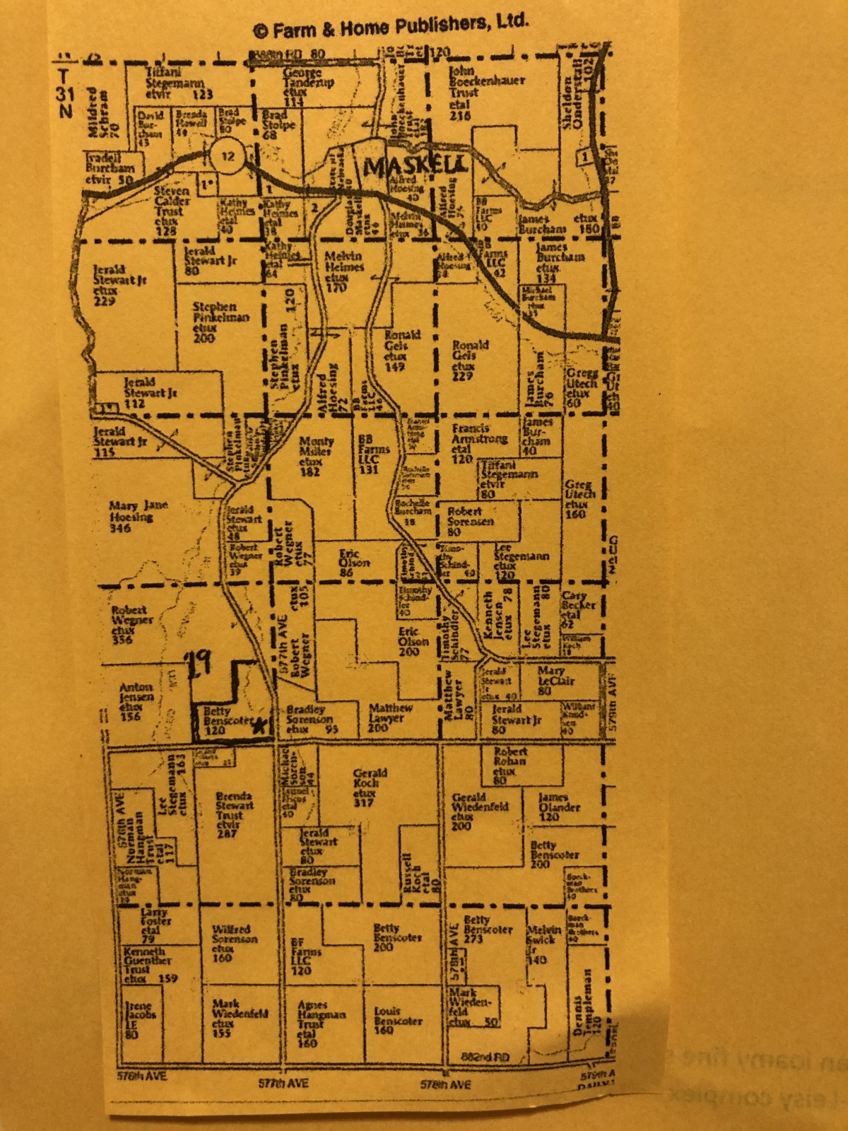 120 Acres +/- E 1/2  SE 1/4 &  SW 1/4 SE 1/4 Sec 19-31-4 Hooker Township, Dixon County, Nebraska Sealed BID